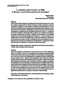 LA REFORMA CONSTITUCIONAL DE 1936,