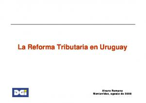 La Reforma Tributaria en Uruguay