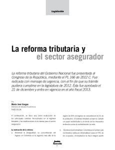 La reforma tributaria y el sector asegurador
