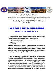LA REGLA DE 24 PULGADAS