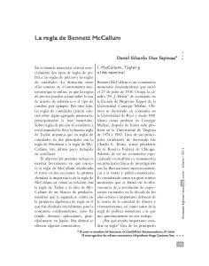 La regla de Bennett McCallum