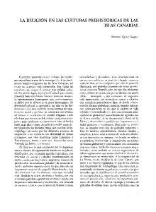 LA RELIGIÓN EN LAS CULTURAS PREHISTÓRICAS DE LAS ISLAS CANARIAS