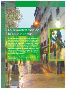 La remodelación de la calle Huertas