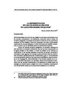 LA REPRESENTACION DE LOS COLEGIOS SALESIANOS EN LOS SUPERVISORES NEUQUINOS *