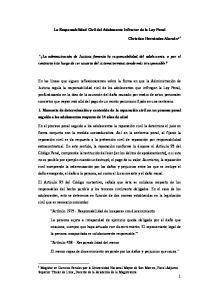 La Responsabilidad Civil del Adolescente Infractor de la Ley Penal