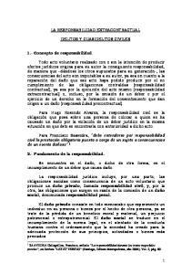 LA RESPONSABILIDAD EXTRACONTRACTUAL. DELITOS Y CUASIDELITOS CIVILES