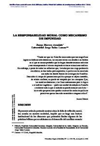 LA RESPONSABILIDAD MORAL COMO MECANISMO DE IMPUNIDAD