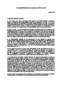 La responsabilidad penal de las personas juridicas en suiza
