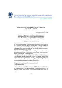 LA RESPONSABILIDAD SOCIAL DE LAS EMPRESAS Y EL CLIMA LABORAL