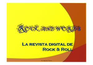 La revista digital de Rock & Roll. Por Alejandro Tenorio