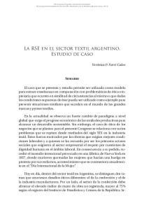 La RSE en el sector textil argentino. Estudio de caso