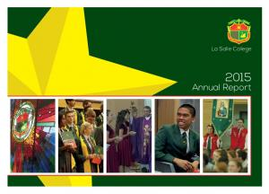 La Salle College. Annual Report