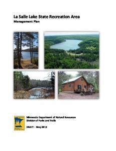 La Salle Lake State Recreation Area Management Plan