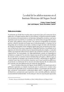 La salud de los adultos mayores en el Instituto Mexicano del Seguro Social