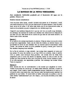 LA SANIDAD DE LA NOVIA VERDADERA