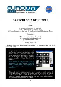 LA SECUENCIA DE HUBBLE
