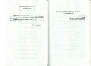 LA SEGURIDAD CIUDADANA: EL CASO COSTARRICENSE
