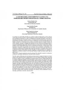 LA SOCIEDAD DEL CONOCIMIENTO Y LAS TICS: UNA INMEJORABLE OPORTUNIDAD PARA EL CAMBIO DOCENTE