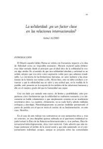 La solidaridad: es un factor clave en las relaciones internacionales?