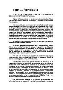 LA SOLUCION EXTRAJURISDICCIONAL DE LOS CONFLICTOS CON LAS ADMINISTRACIONES PUBLICAS