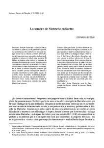 La sombra de Nietzsche en Sartre