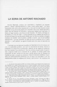 LA SORIA DE ANTONIO MACHADO