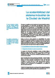 La sostenibilidad del sistema industrial de la Ciudad de Madrid