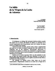 La tabla de la Virgen de la Leche de Ademuz