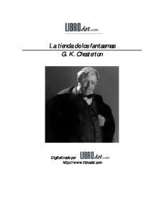 La tienda de los fantasmas G. K. Chesterton. Digitalizado por
