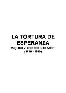 LA TORTURA DE ESPERANZA