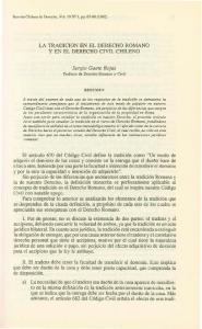 LA TRADICION EN EL DERECHO ROMANO Y EN EL DERECHO CIVIL CHILENO. Sergio Gaete Rojas