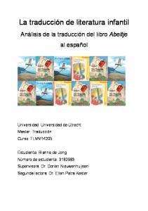 La traducción de literatura infantil