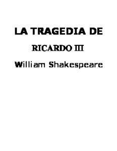 LA TRAGEDIA DE RICARDO III. William Shakespeare