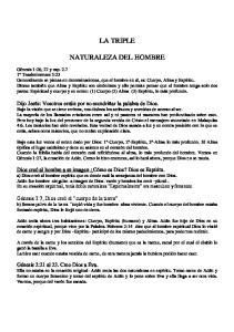 LA TRIPLE NATURALEZA DEL HOMBRE