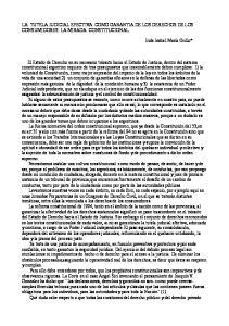 LA TUTELA JUDICIAL EFECTIVA COMO GARANTIA DE LOS DERECHOS DE LOS CONSUMIDORES: LA MIRADA CONSTITUCIONAL