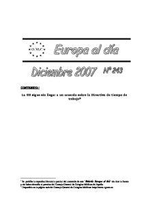 La UE sigue sin llegar a un acuerdo sobre la Directiva de tiempo de trabajo 2