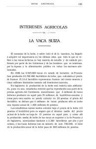 LA VACA SUIZA INTERESES AGRICOLAS