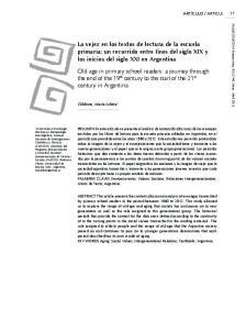 La vejez en los textos de lectura de la escuela primaria: un recorrido entre fines del siglo XIX y los inicios del siglo XXI en Argentina
