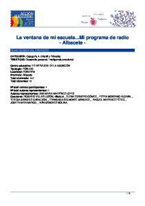 La ventana de mi escuela...mi programa de radio - Albacete -