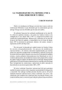LA VIABILIDAD DE UNA MONEDA UNICA PARA MERCOSUR Y CHILE
