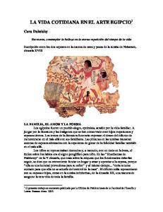 LA VIDA COTIDIANA EN EL ARTE EGIPCIO 1