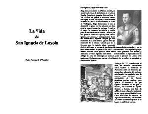 La Vida de San Ignacio de Loyola