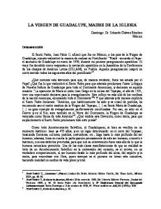 LA VIRGEN DE GUADALUPE, MADRE DE LA IGLESIA