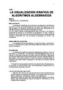LA VISUALIZACION GRAFICA DE ALGORITMOS ALGEBRAICOS