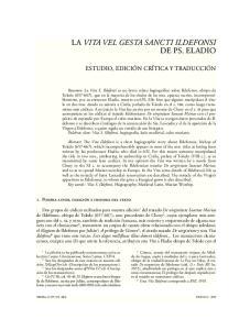 LA VITA VEL GESTA SANCTI ILDEFONSI DE PS. ELADIO