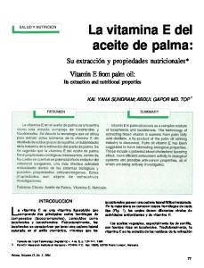 La vitamina E del aceite de palma: