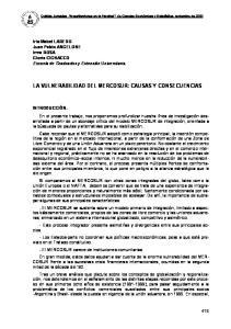 LA VULNERABILIDAD DEL MERCOSUR: CAUSAS Y CONSECUENCIAS
