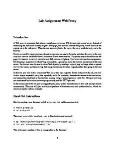 Lab Assignment: Web Proxy