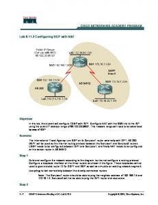 Lab Configuring BGP with NAT