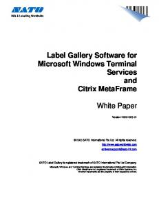 Label Gallery Software for Microsoft Windows Terminal Services and Citrix MetaFrame